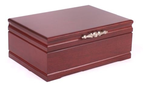 Large solid cherry wood jewelry box for Solid wood jewelry chest