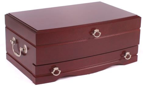 Solid wood jewelry chest cherry for Solid wood jewelry chest