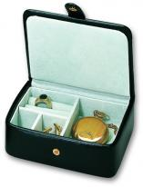 Budd Leather Mens Accessories Box. Fits Rings, Cufflinks, Wrist Watch or Pocket Watch