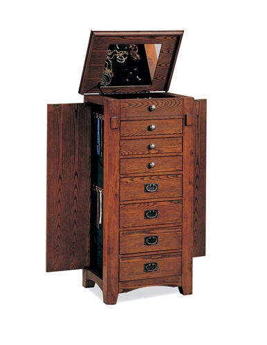 floor standing jewelry armoire in traditional design with. Black Bedroom Furniture Sets. Home Design Ideas
