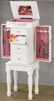 4 drawer standing jewelry case