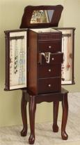 4 drawer cherry jewelry armoire