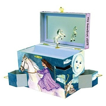 Girl's Jewelry Music Box  Clair de Lune  Enchantmints Discover Your World B3007-D