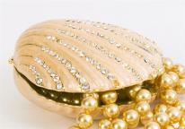 Swarovski Bejeweled Clamshell Trinket Box