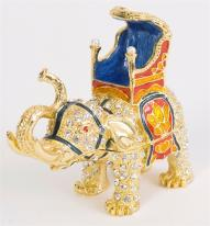 Majestic Elephant Trinket Box. 24k gold.