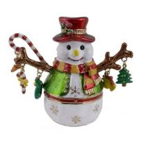 Holiday Snowman Trinket Box