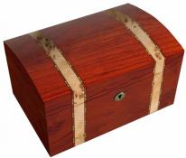 Fully Locking Bubinga Jewelry Box with Mapa Burl Inlay