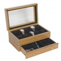 Wooden Watch Box with Drawer