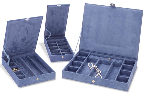 Stackable Jewelry Cases Three Anti Tarnish Jewelry Organizers
