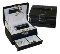 Red Travel Jewelry Box with wallet