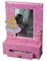 Ballerina Jewelry Box with Photo Frame, Storage Drawer and Musical Ballerina Girl
