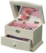 Girls Dancing Ballerina Jewelry Box with Music Box that plays Waltz of the Flowers