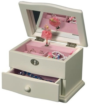 Girls Dancing Ballerina Jewelry Box with Music Box that plays Magic Flute