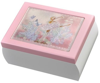 Little Girls Ballet Jewelry Box with Ballerina that Dances to Music