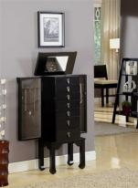 Ningbo Seven Drawer Black Jewelry Armoire
