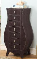 Crocodile Leather Jewelry Armoire with Seven Drawers