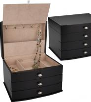 Contemporary Espresso Jewelry Box by Reed and Barton