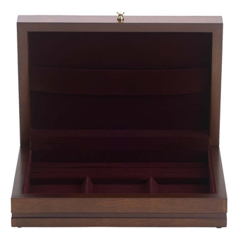 Mans Jewelry Box - Mans Wooden Dresser Valet - Reed Barton Man of the Year 635