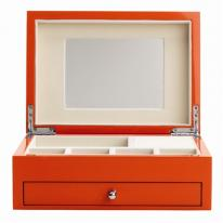 Orange Jewelry Box with high gloss finish