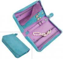 Small Turquoise Travel Jewelry Case