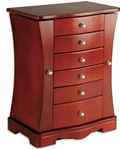 Cherry Jewelry Box Necklace Armoire