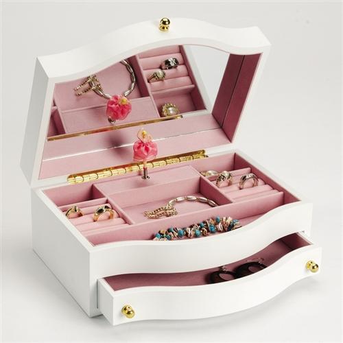 Childrens Musical Jewelry With Ballerina Swan Lake Music Box
