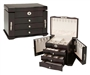 Beautiful Burlwood Jewelry Box Mini Armoire Chest