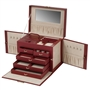 Fashion Leather Jewelry Box with Handle, Necklace Sides plus Mini