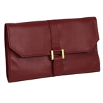 Stylish Jewelry Travel Roll Clutch with Buckle