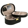 Oval Jewelry Travel Case with Folding Tray
