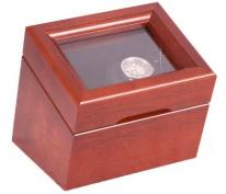 Single Watch Winder in Solid Cherry Wood