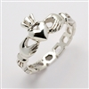 "Sterling Silver Ladies Pierced ""Mo Chroi"" Claddagh Ring 10.5mm"