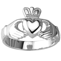 Sterling Silver Ladies Standard claddagh Ring 11mm