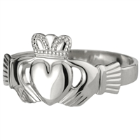 Sterling Silver Heavy Men's Claddagh Ring 14mm