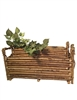 S/2 Lg.  Brown Twig Rectangle Basket w/ Ears