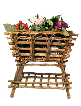<b>ADVANCED ORDER</b> Brown Rectangle Twig Plant Stand