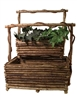 <b>ADVANCED ORDER</b> S/2 Lg Rectangle Brown Twig Baskets w/Handle