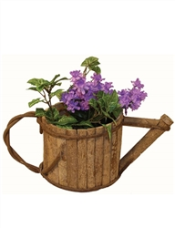 Wooden Watering Can w/ Handle & Spout