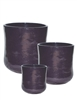 S/3 Tall Round Venus Pots - Dark Purple