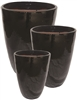S/3 Tall Tubular Pots - Black