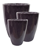 S/3 Tall Tubular Pots - Deep Purple