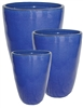 S/3 Tall Tubular Pots - Falling Blue