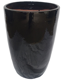 Single Extra Large Tall Tubular Pot - Black