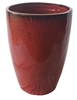 Single Extra Large Tall Tubular Pot - Tropical Red