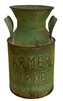 Antique Green Dairy Urn