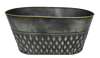 Decorative Oval Metal Pot with Liner