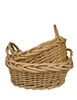 S/2 Oval Split Acacia Vine Baskets w/ Ear Handles (No Liner)