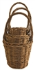 S/3 Round Acacia Vine Baskets w/ Handles & Liners