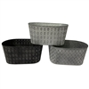 Oval Metal Pots with Liners - 3 Assorted Colors