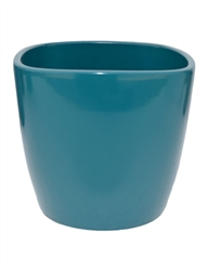 "7.5"" Square Waterproof Powder Coated Pot - Teal"